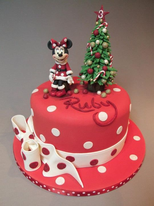 Awesome Minnie Mouse Christmas Cake made by Emma Jayne Cake Design