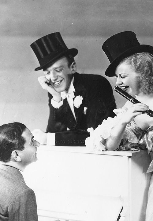 Irving Berlin, Fred Astaire and Ginger Rogers for Top Hat (1935)