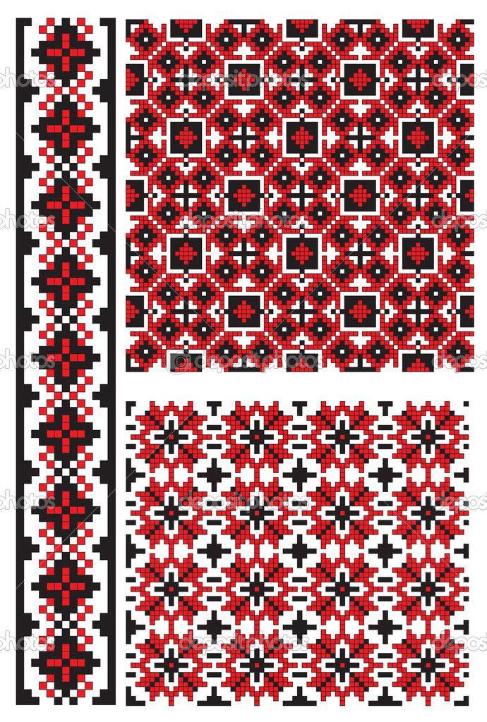 Ukrainian embroidery pattern — Cтоковый вектор #37626315