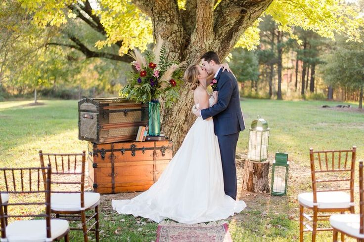 Colorful equestrian wedding ceremony inspiration- decor, style, and design