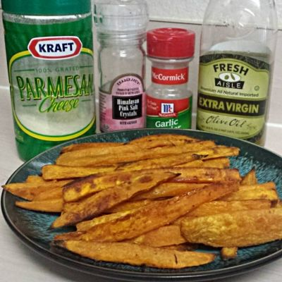 Ripped Recipes - Garlic Parmesan Sweet Potato Fries - This is the best thing that will ever touch your taste buds, hands down!