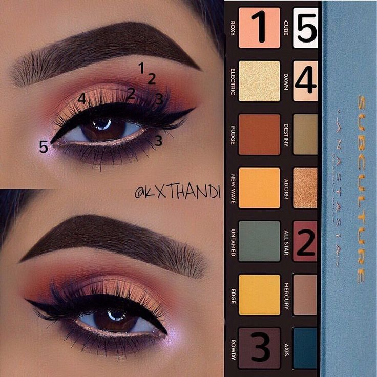 Anastasia Subculture eye Palette tutorial #beauty #makeup #eye #anastasia #tutorial #ad