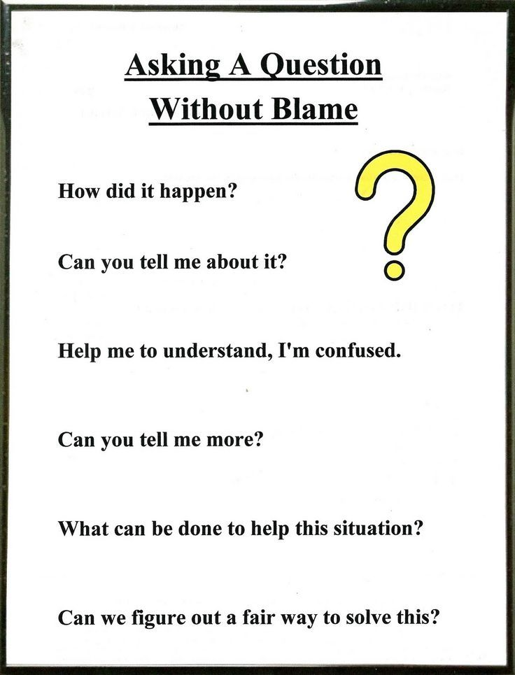 Great parenting questions for helping kids with adhd and aspergers. Lorinda-Character Education: Be a Detective & Asking A ? Without Blame; Conflict Resolution 4
