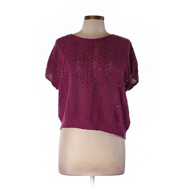 Pre-owned Moth Pullover Sweater Size 12: Purple Women's Tops ($21) ❤ liked on Polyvore featuring tops, sweaters, purple, pullover tops, butterfly top, purple sweater, butterfly print top and pullover sweaters