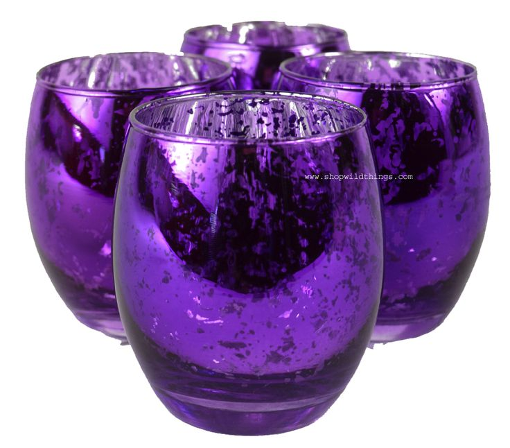 """Mercury Glass Candle Holders, Bulk 12 pcs, """"Analisa"""" Purple - We love Mercury Glass on the tables to really set a romantic mood. It's always nice to have candlelight going at home. How about making you"""