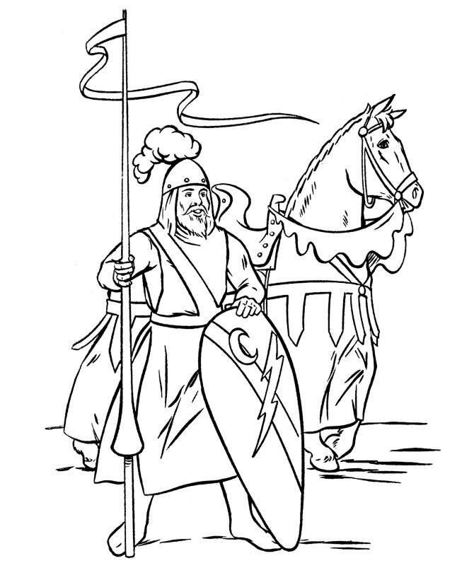 106 best images about history coloring page on pinterest for Knight coloring page
