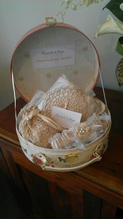 Handmade by Helen, crocheted bridal accessories exclusive to Elizabeth de Varga