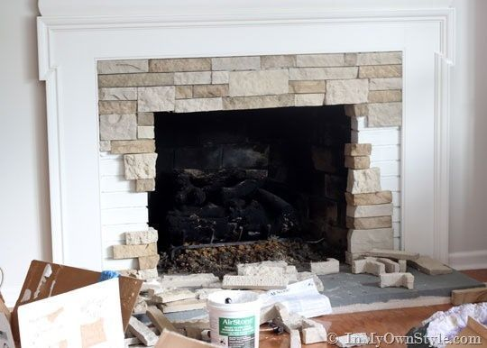 Stone Fireplace Designs And Remodel Antico Elements Blog: 11 Best Refinishing The Fireplace Images On Pinterest