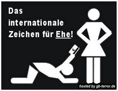 The international sign for marriage
