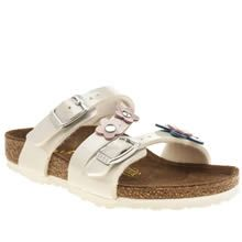 Girls White & Pink Birkenstock Salina Flower Toddler Sandals