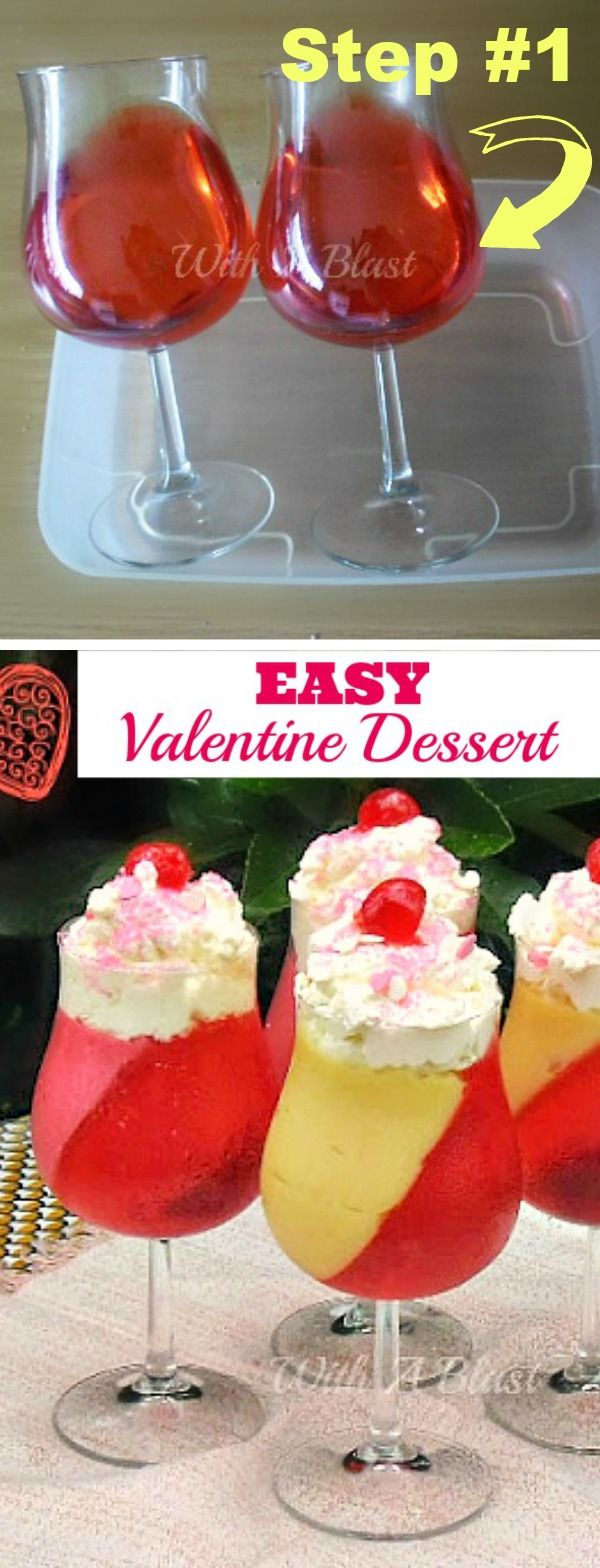 Easy To Make Valentine Dessert  Substitute Sugar Free Jello And Pudding And  Use Unflavored Almond Milk For Pudding And Low Carb Deliciousness!