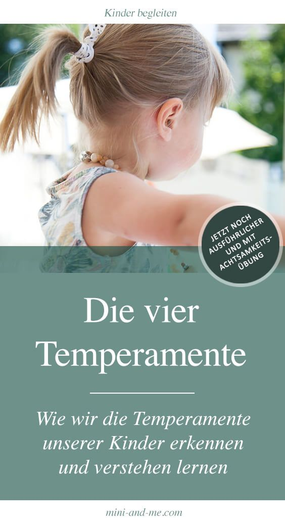 The 4 Temperaments: How to recognize and understand the temperaments of our children (with fragrance-awareness-exercise)