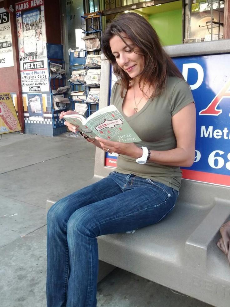 Seen Reading makes its way to San Diego! Here's artist, architect/designer, professor Mariateresa Aiello. Visit her at http://sketchbloom.wordpress.com.