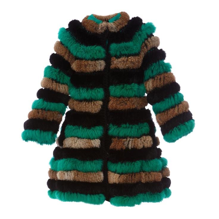 df5fd185fb175 Manteau en lapin tricolore - Manoush - Nouvelle Collection et ventes  privées   Brandalley