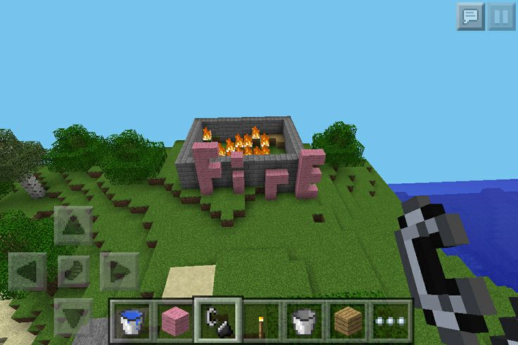 how to build a fire pit on minecraft