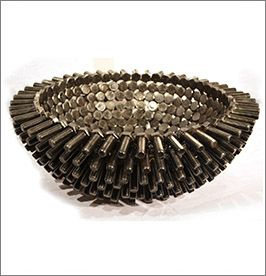 Washer Bowl by Barry Ferich - Metal Art Sculpture - ArtisticLifestyles
