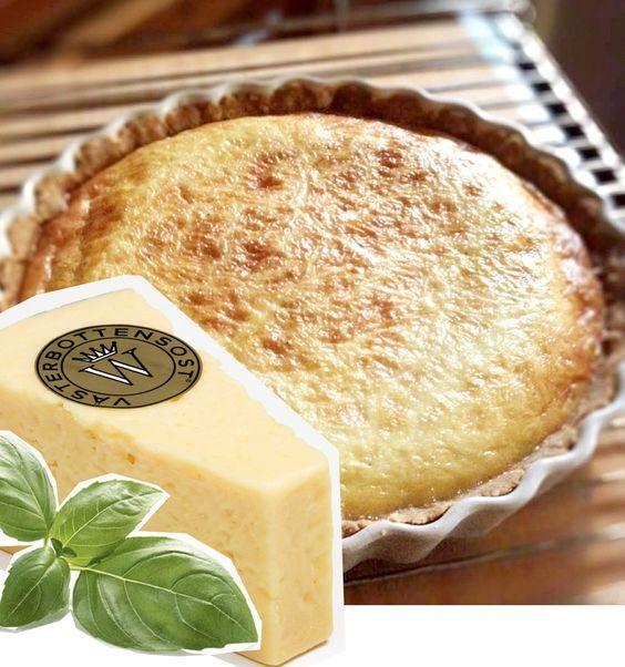 Supergod glutenfri paj med västerbottenost #LCHF #recept #glutenfritt
