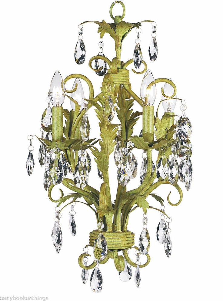 41 best fantastic lighting chandelier candelier candlelabre lamps chic shabby pistachio green crystal 4 arm chandelier hanging light aloadofball Choice Image