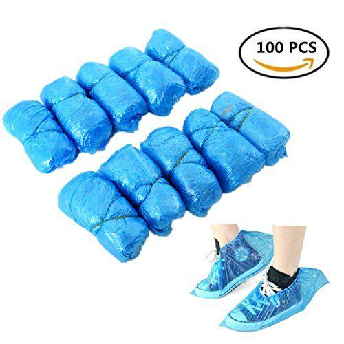 jetables Chaussures couvertures, housses de plastique Chaussures imperméable antidérapant Bottes Chaussures couvertures de sac de…