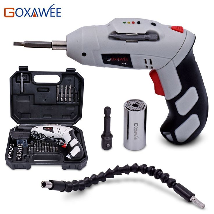 Find More Electric Screwdriver Information about GOXAWEE 4.8V Electric Screwdriver Parafusadeira a Bateria With Chargeable Battery Cordless Drill DIY Power tools with 43 Bits,High Quality parafusadeira a bateria,China parafusadeira bateria Suppliers, Cheap electric screwdriver from GOXAWEE Store on Aliexpress.com