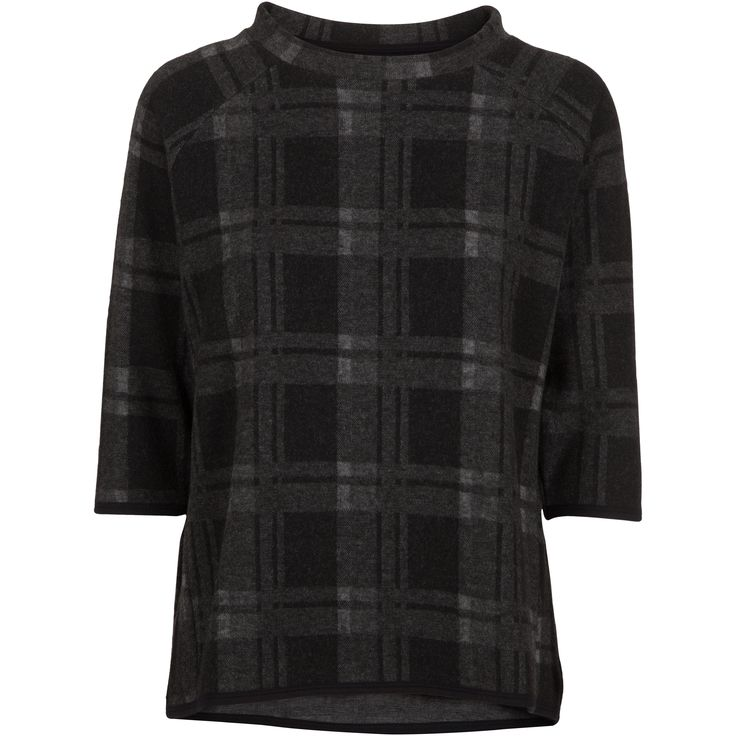 Gill top #soft #sweater #grey #black #check #pattern #warn #lovely