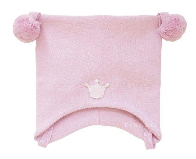 Kivat vårlue, støvrosa med dusker og krone | DressMyKid.no - Barn og baby - Alltid gode tilbud