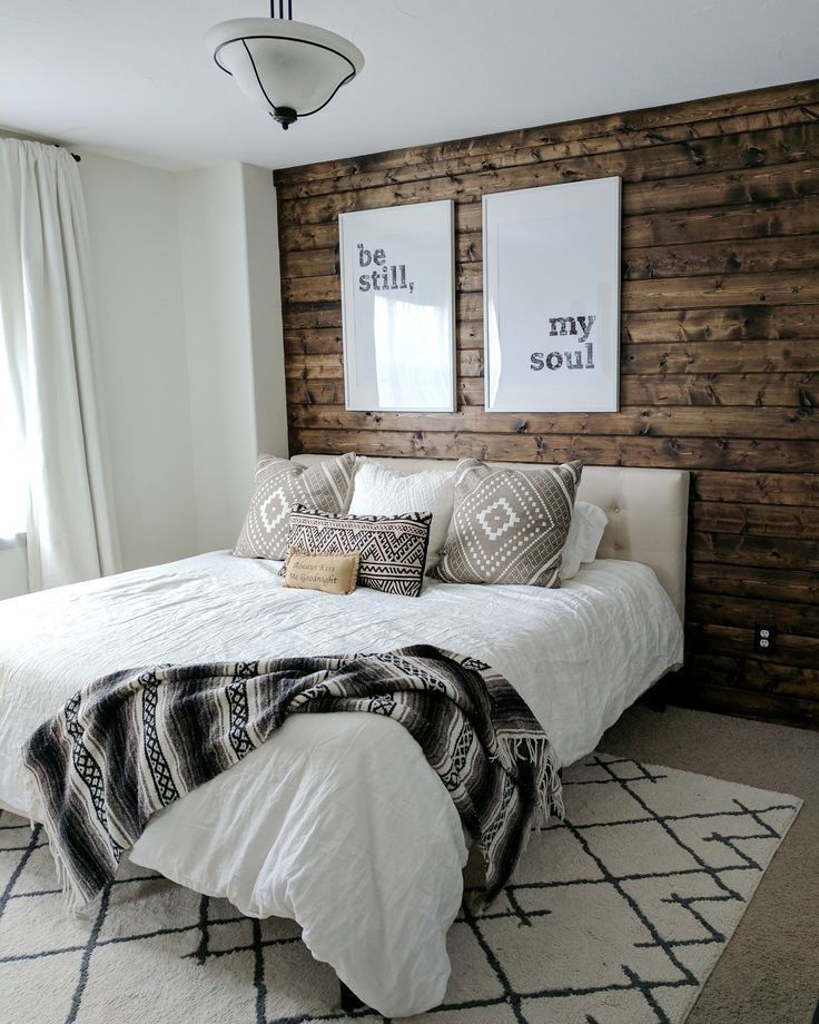 How To Diy A Wood Plank Accent Wall Yellow Bedroom Decor Wood Walls Bedroom Accent Wall Bedroom