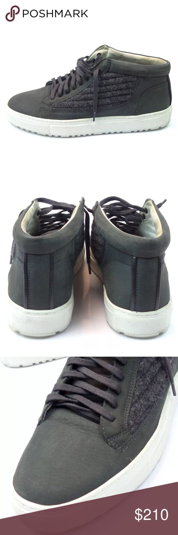ETQ Mid Top Gray Leather Trainer Sneaker Shoes 42 ETQ Mid Top Gray Leather Trainer Sneaker Shoes Size 42 ETQ Shoes Sneakers