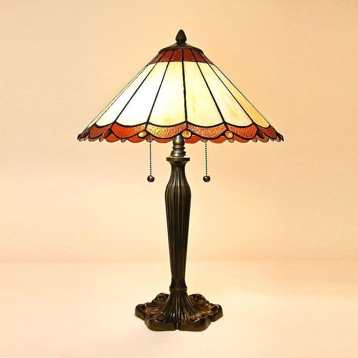 Tiffany Style Stained Glass Table Lamp-Classic Vintage Lighting Look Living Room #Serenaditalia