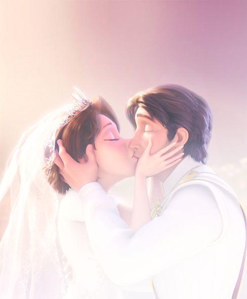 The wedding kiss | Disney | Pinterest | Rapunzel, Tangled ...