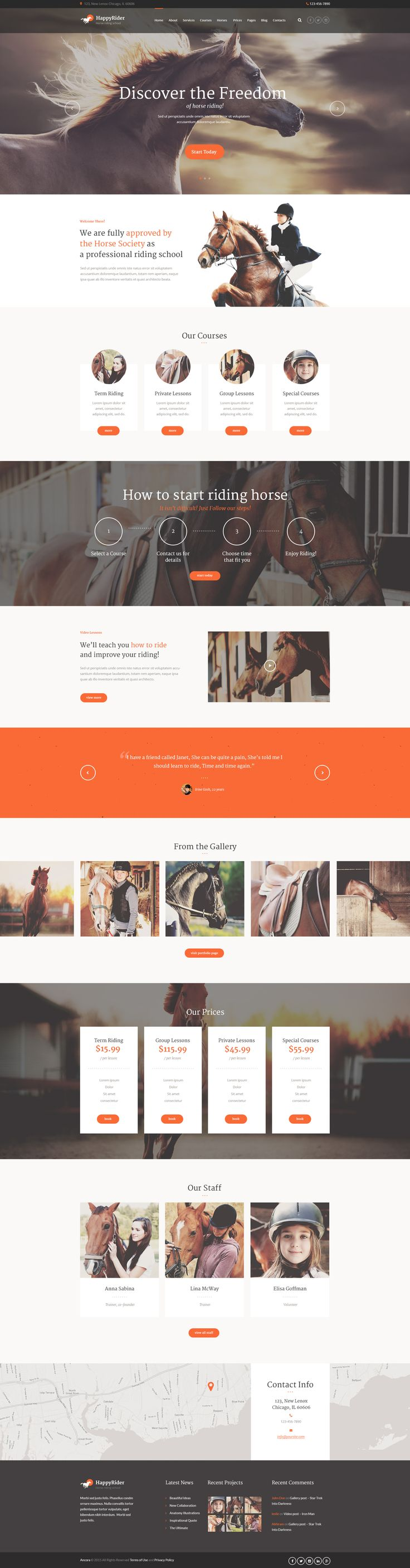 WordPress Theme with cool vintage design that is suitable for #horse-riding…