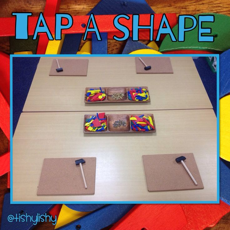Tap a shape on the maths table