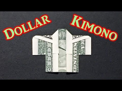 Easy Money Origami Kimono – How to Make a Japanese…