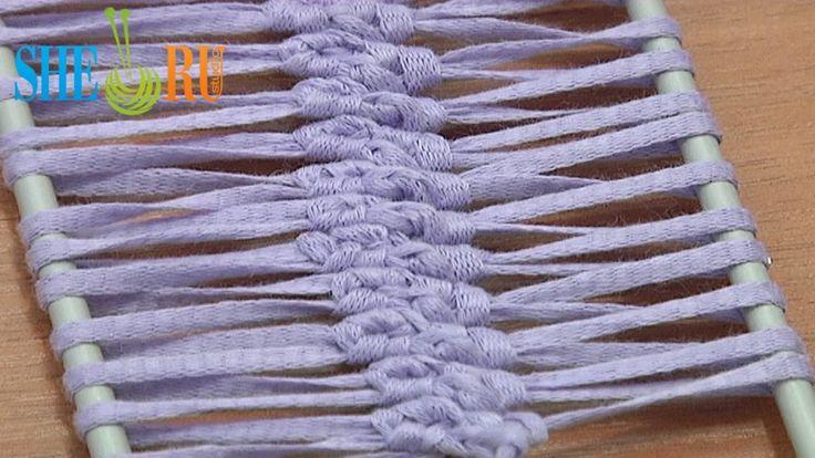 Crochet Hairpin lace braid strip tutorial 6 - 2 single crochet sts in loop - You Tube - 8 min - Sheru knitting