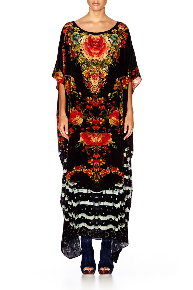 Camilla Lift the Veil Round Neck Kaftan. Exquisite! Her best ever! Perfect to wear with ankle booties in winter with layers under. Love Love.