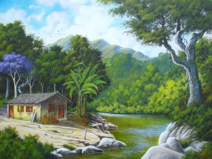 paisagens para pintar em tela - Pesquisa Google