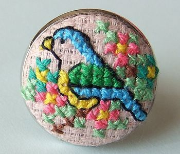 Love this!  It is a ring, but would also be lovely as a brooch or a necklace pendant...