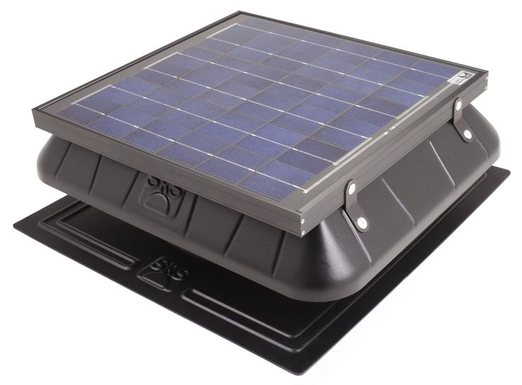 Flat Base Solar Attic Fan For Homes Or Businesses