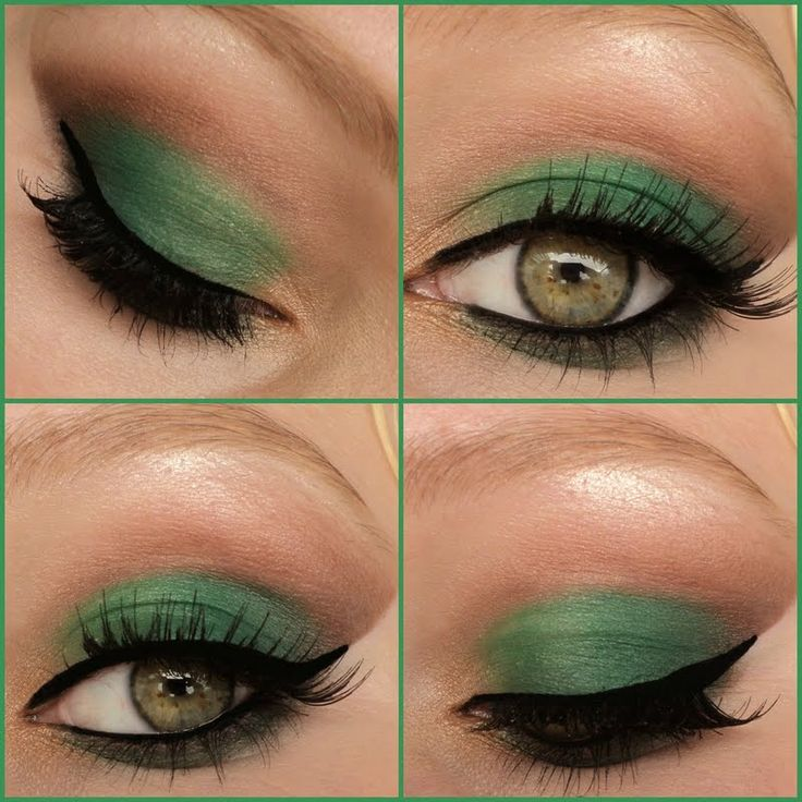 This Sultry Cut Crease Is Created Using Green And Brown