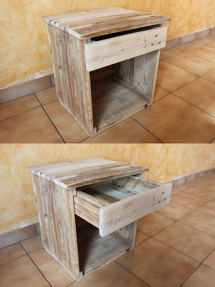 les 25 meilleures id es de la cat gorie table de chevet bois sur pinterest bricolage de table. Black Bedroom Furniture Sets. Home Design Ideas