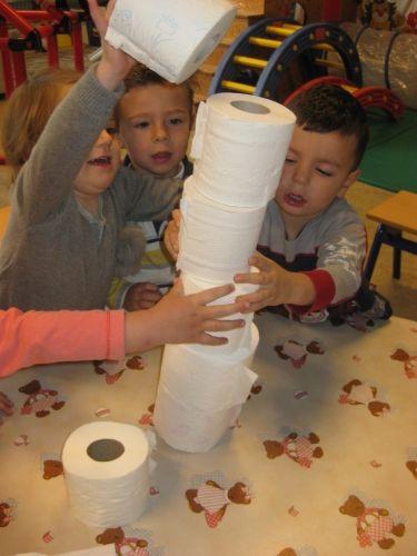 bouwen met WCpapier