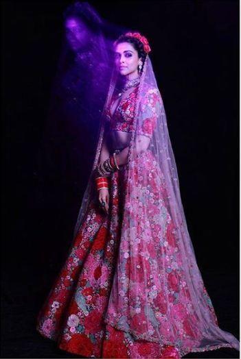 6eb509dd6e905 Photos  Deepika Padukone looks stunning in a Sabyasachi floral ...