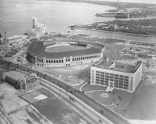 Maple Leaf Stadium (with Maple Leaf Park at Hanlan's Point in the background)