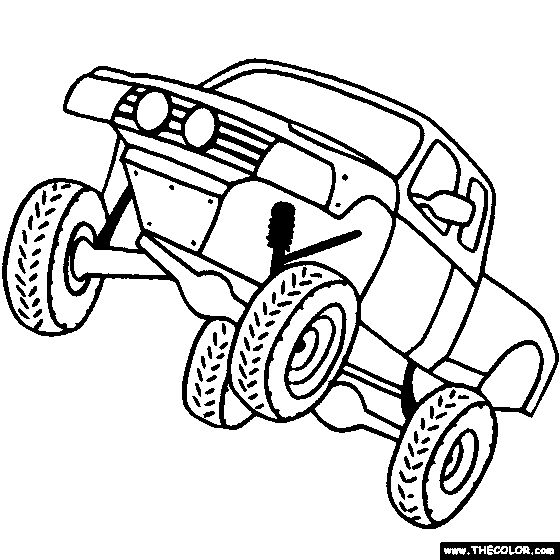 Off Road Vehicle Coloring Page | Color Off-Road