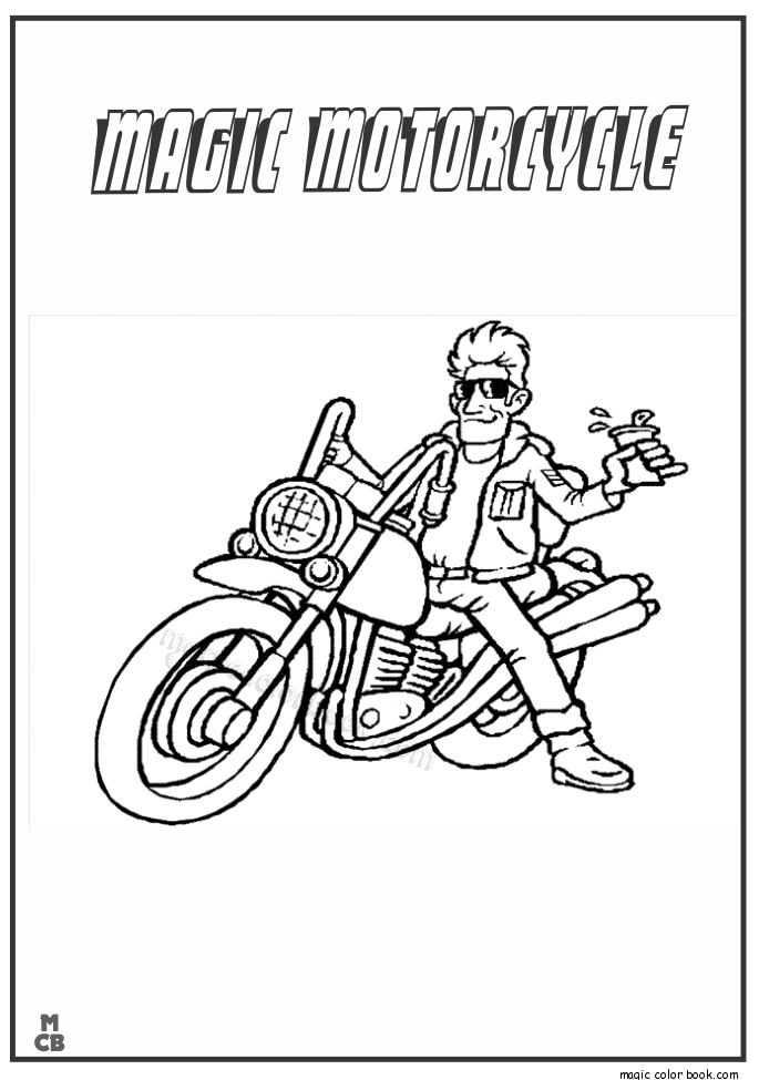 18 best Motorcycle Coloring pages free images on Pinterest ...