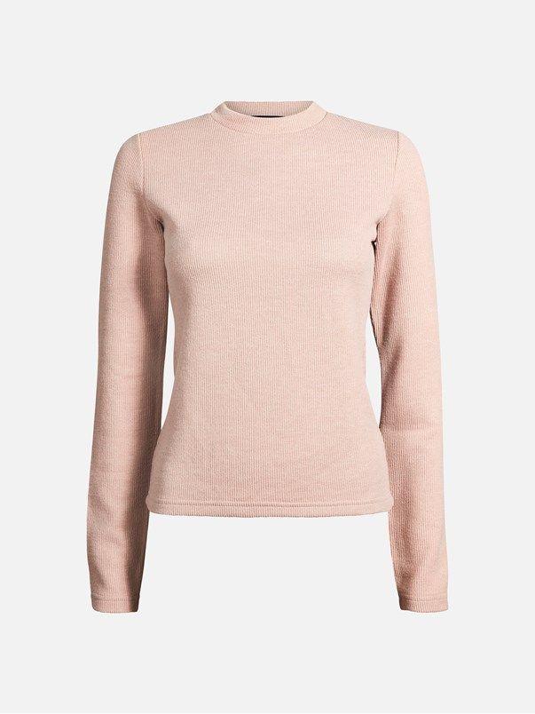 Nora sweater | | Vaalea pinkki | BikBok | Suomi
