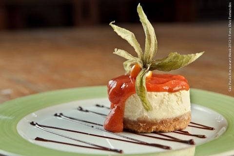 Praça São Lourenço - Iguatemi (jantar)    Cheesecake de goiaba  Feito com Cream Cheese Philadelphia