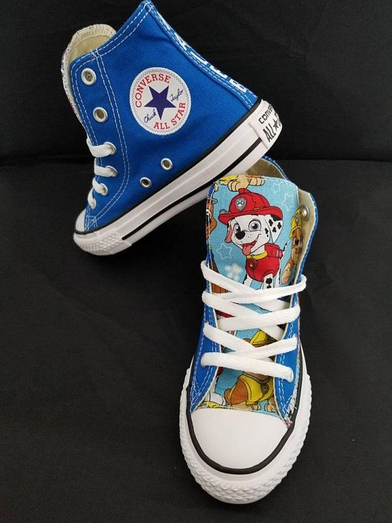 ed082822f9beb Paw Patrol Birthday, personalized Pawpatrol Converse Shoes, chucks ...