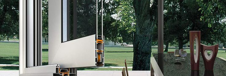 Alumil S350 è un nuovo approccio di #porte #scorrevoli seguendo le ultime tendenze architettoniche: linee semplici con meno superficie di alluminio visibile.