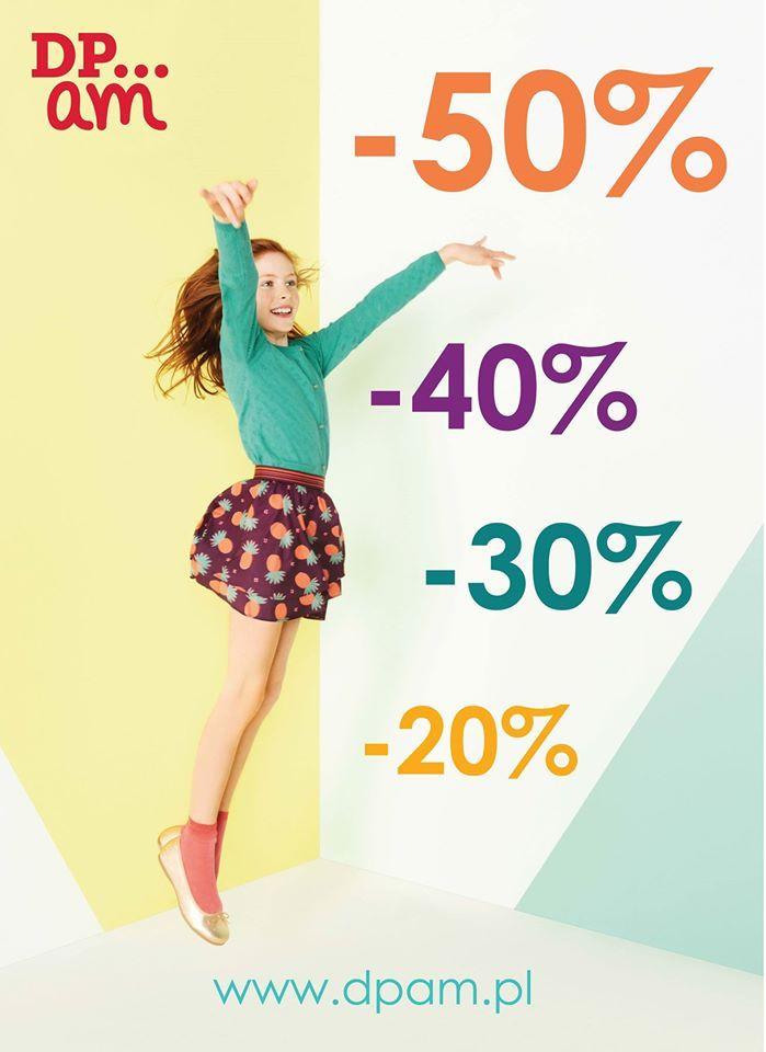 Zapraszamy na wyprzedaż w naszych sklepach stacjonarnych i na www.dpam.pl!